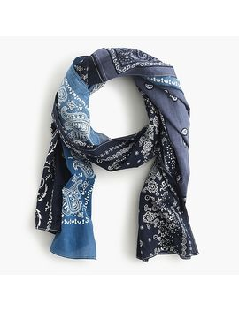 lightweight-cotton-patchwork-scarf by jcrew