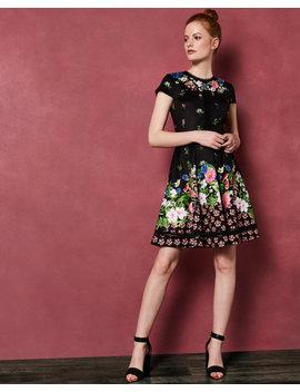 florence-trim-skater-dress by ted-baker