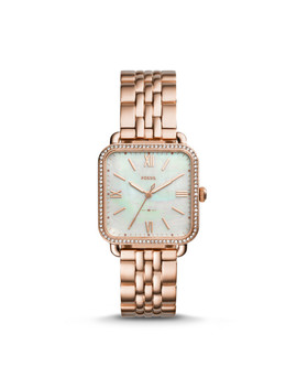 Micah Three Hand Rose Gold Tone Stainless Steel Watch by Fossil
