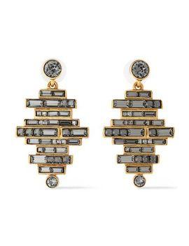crystal-and-gold-tone-earrings by oscar-de-la-renta