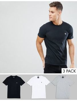 abercrombie-&-fitch-3-pack-crew-neck-t-shirt-icon-logo-in-white_grey_black by abercrombie-&-fitch