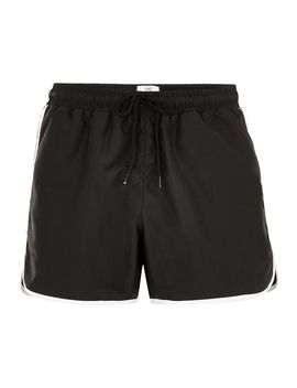 black-runner-swim-shorts by topman