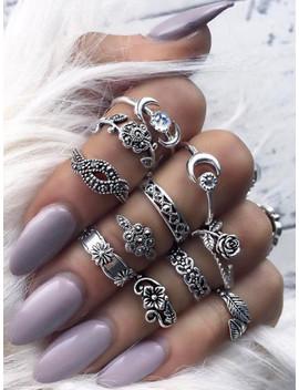 mond-&-blume-detail-ring-set-11pcs by sheinside