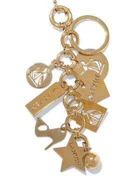 gold-tone-keychain by lanvin