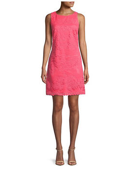 mesh-overlay-shift-dress by eliza-j