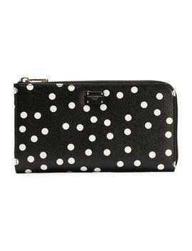 polka-dot-textured-leather-continental-wallet by dolce-&-gabbana