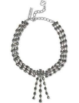 silver-tone-crystal-necklace by oscar-de-la-renta