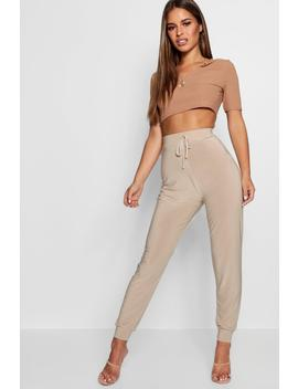 petite-jerry-slinky-tie-detail-jogger by boohoo