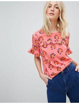 vero-moda-floral-blouse-with-ruffle-panel by vero-moda