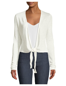 long-sleeve-linen-wrap-cardigan by theory