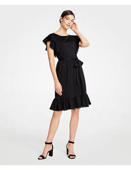 tie-waist-flutter-dress by ann-taylor