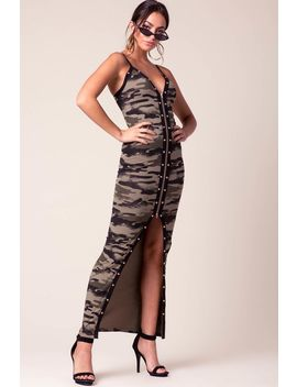 uptown-camouflage-maxi-dress by agaci