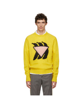 yellow-&-pink-bananas-crewneck by prada