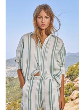 they-say-love-is-lined-oversized-shirt by nasty-gal