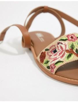 asos-design-falcon-embroidered-sandals by asos-design