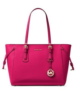 voyager-ultra-pink-leather-tote by michael-kors