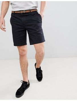 pull&bear-chino-shorts-in-navy by pull&bear