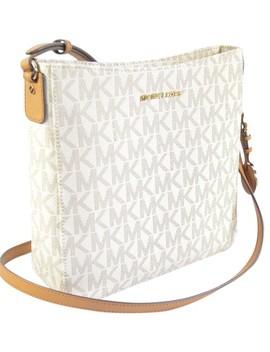 signature-jet-set-messenger-vanilla-pvc-cross-body-bag by michael-kors