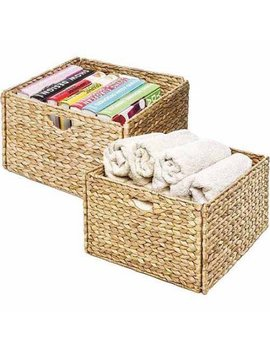 seville-classics-hand-woven-hyacinth-storage-cube-basket,-(set-of-2) by seville-classics