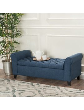 noble-house-amanda-dark-blue-fabric-armed-storage-bench by noble-house