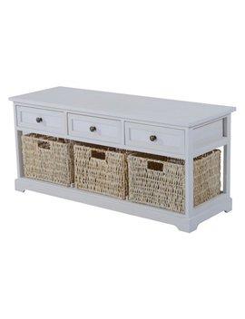 homcom-40-in-wicker-basket-storage-bench by homcom