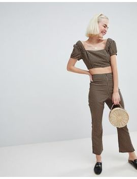 emory-park-high-waist-flares-in-dogtooth-co-ord by emory-park