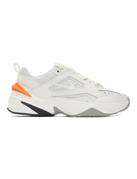 off-white-&-grey-m2k-tekno-sneakers by nike
