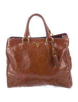 prada-vitello-shine-satchel by prada