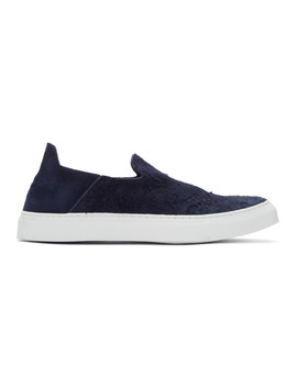 black-suede-one-slip-on-sneakers by diemme