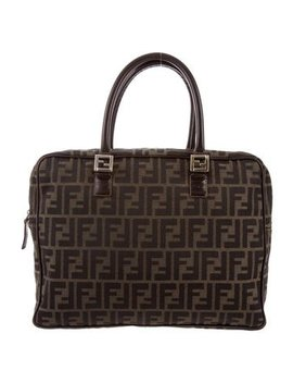 fendi-leather-trimmed-zucca-satchel by fendi