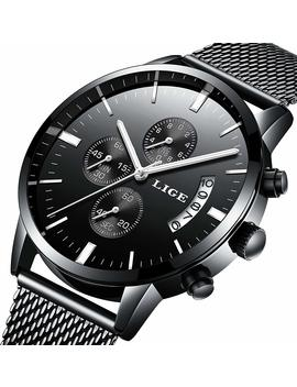 watch-men-casual-stylish-stainless-steel-watch-with-milanese-mesh-band,-waterproof-black-multifunctional-watch-for-men by alps