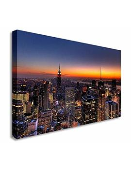 beautiful-night-new-york-city-skyline-wall-picture-canvas-art-cheap-print-12x16-inches by amazon
