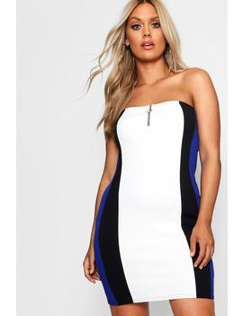 plus-o-ring-bandeau-mini-dress by boohoo