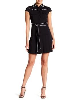 yoko-western-yoke-pleated-dress by alice-+-olivia
