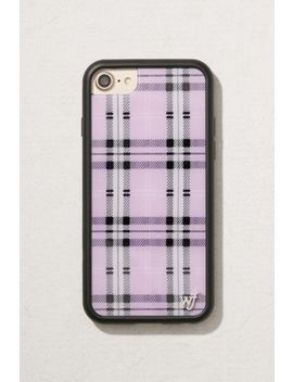 wildflower-lavender-plaid-iphone-8_7_6-case by wildflower