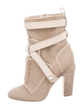 fendi-perforated-ankle-strap-booties by fendi