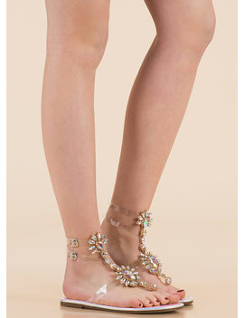 clearly-blooming-scaled-jeweled-sandals by gojane