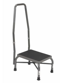 drive-medical-heavy-duty-bariatric-footstool-with-handrail-and-non-skid-rubber-platform,-silver-vein by drive-medical