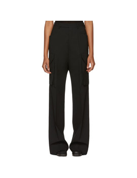 black-zanlight-tailored-cargo-trousers by rick-owens