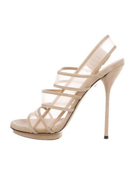 gucci-mesh-slingback-sandals by gucci