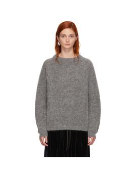 grey-wool-dramatic-sweater by acne-studios