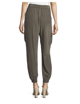 belted-silk-cargo-pants by go-silk