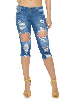 vip-destroyed-capri-jeans by rainbow