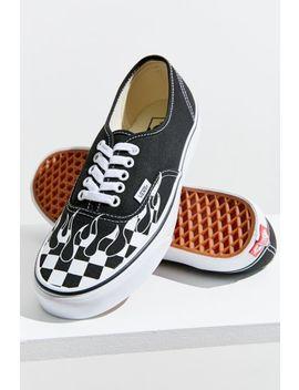 vans-authentic-checkerboard-flame-sneaker by vans