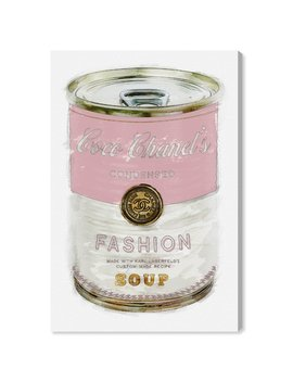 oliver-gal-fashion-soup-pink-graphic-art-print-on-wrapped-canvas by oliver-gal