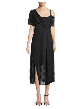 coastal-silk-blend-asymmetric-dress by theory