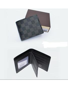 brand-man-leather-wallets-mens-black-bag-plaid-wallet by ioffer