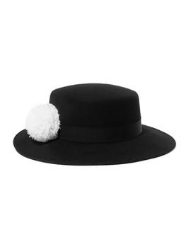 brigitte-feather-trimmed-wool-felt-hat by eugenia-kim