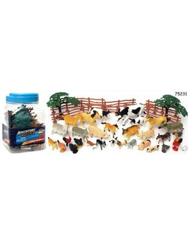 adventure-force-40-piece-farm-animals-big-bucket-with-handle,-assorted by [unavailable]