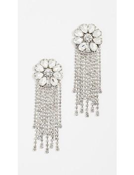 floral-gem-chain-earrings by baublebar